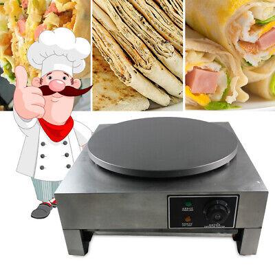 16 Commercial Electric Crepe Maker Baking Pancake Machine Hotplate Nonstick 3kw