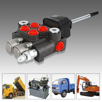 2 Spool Hydraulic Directional Control Valve Double Acting 11 Gpm Motor Spool Usa