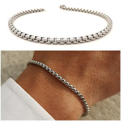 Bracciale da uomo in acciaio inox a catena con maglia braccialetto