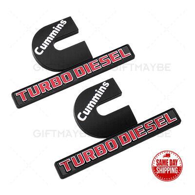 2x OEM 3D Cummins Turbo Diesel Emblem Badge For Car RAM 2500 3500 Fender Marker