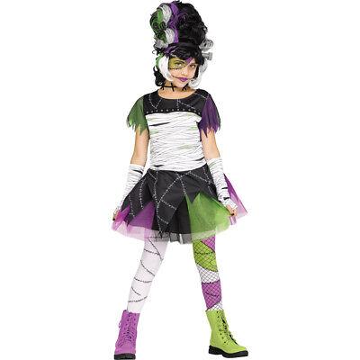 Girls Monster Bride Frankenstein Classic Costume Girls Monster Bride Costume