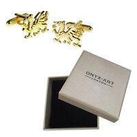In Oro Da Uomo Dragone Gallese Wales Gemelli & Scatola Regalo Da Ony Art -  - ebay.it