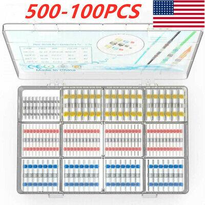 500-100x Waterproof Solder Seal Sleeve Heat Shrink Butt Wire Connectors Terminal