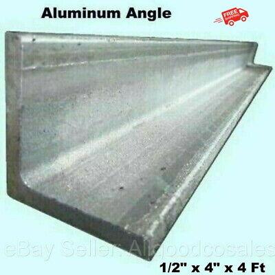Aluminum Angle 12 X 4 X 4 Ft Length Unpolished Alloy 6061 90 Stock
