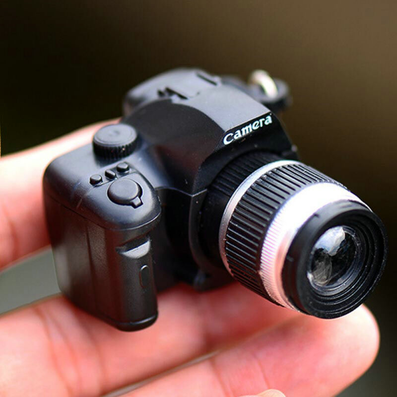 Hot Sale Mini Realistic SLR Camera Shape Keychain With Flash