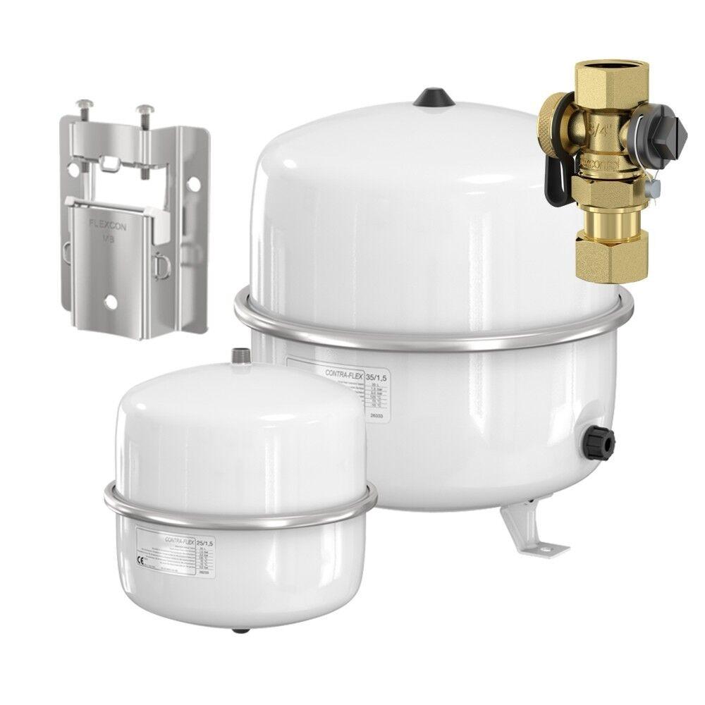 Flamco Contra Flex Ausdehnungsgefäß Heizung und Solar 18 25 35 oder 80 Liter