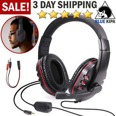 Gaming Headset Computer Video Gamer w/ Mic Stereo Headphone For PS4/Xbox One/PC