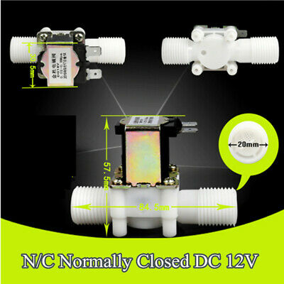 12 New Electric Solenoid Valve For Water Air Nc Normally Closed Dc 12v