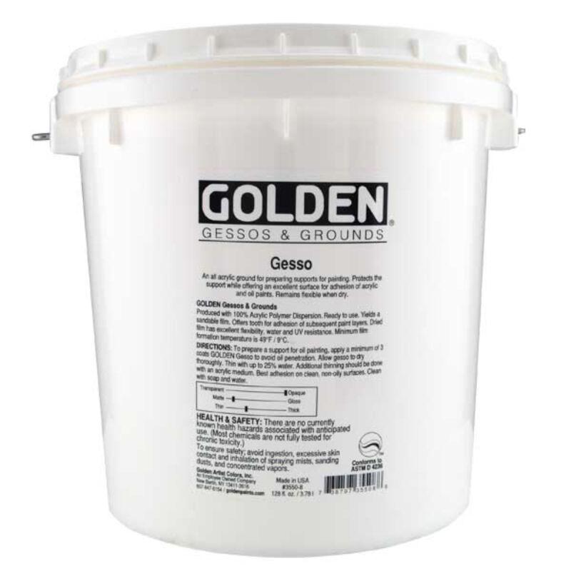 Golden Acrylic 128 Oz Gallon Gesso