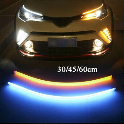 2x LED Auto Dynamische Flexibler Streifen DRL Tagfahrlicht Blinker Lampe Leuchte Flexibles Licht