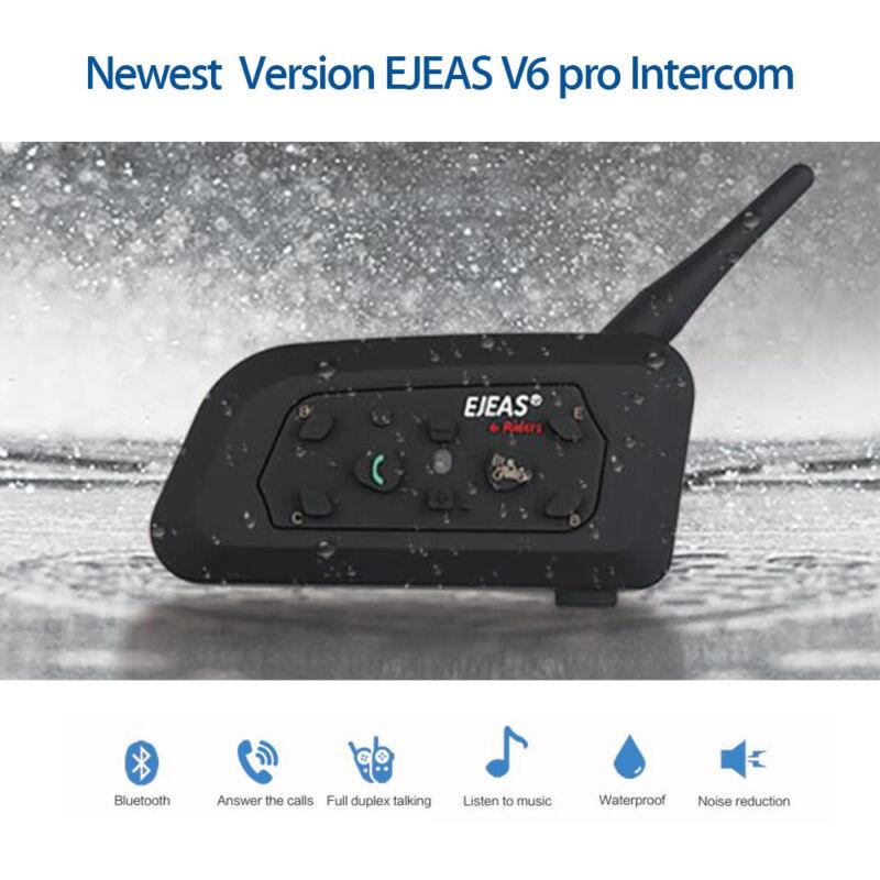 Brand EJEAS V6 Pro 1200M 850mAh FM Motor Bluetooth Interphone Helmet Headset MP3