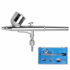 Dual Action Airbrush Gun 0.3mm Nail Art Paint Spray Makeup Gravity Feed Hobby