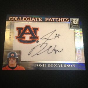 2007 Josh Donaldson Donruss Elite Extra Autograph Collegiate Patch Auto Rc #/250