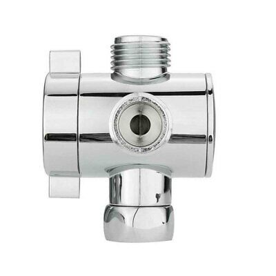 Three Way T-adapter Valve For Toilet Bidet Shower Head Diverter Valve 1/2 Inch