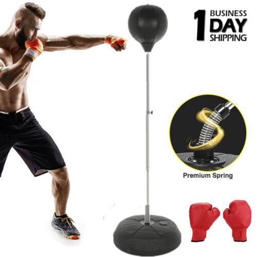 Reflex Bag Adjustable Free Standing Boxing Ball Speed Punching MMA GYM Training