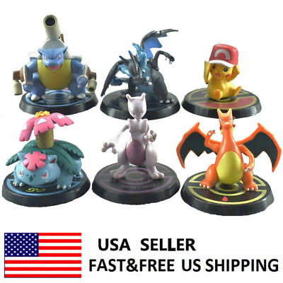Pokemon Figures Lot- Large size Pikachu Mewtwo Charizard Blastoise Figurines