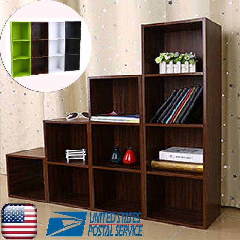 3/4 Tier Wooden Bookcase Shelves Bookshelf Storage CD Display Unit Wooden