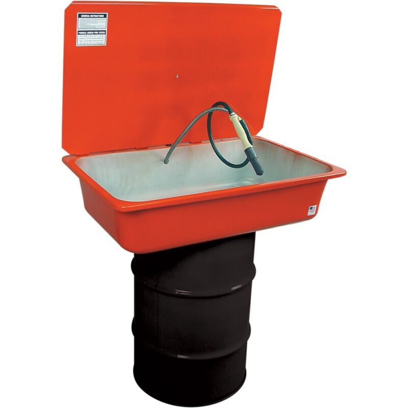 30-Gallon Drum-Mounted Parts Washer, Made in USA #8090-30KIT