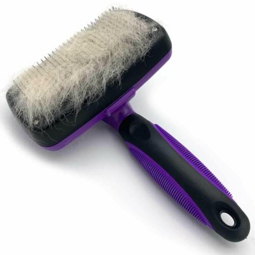 Self Cleaning Dog Cat Slicker Brush Grooming Tool Gently Removes Loose Undercoat