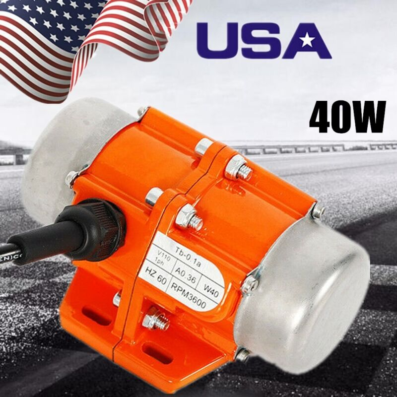 Vibrator Motor Adjustable Eccentricity Block 3600 RPM 110V 1 phase 40W for Coal