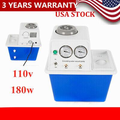 180w Circulating Water Vacuum Pump Air Lab Chemistry Equipment 2 Suction Taps Us