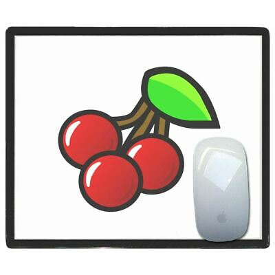 Fruit Machine Cherries - Thin Pictoral Plastic Mouse Pad Mat Badgebeast