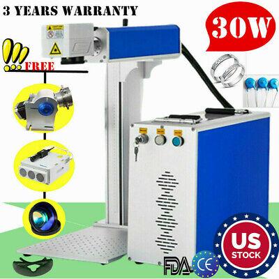 Us 30w Split Fiber Laser Marking Machine Engraving Engraver Machine Raycus Laser