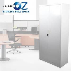 2 Door Steel Storage Cupboard Stationary Cabinet with lock Darra Brisbane South West Preview
