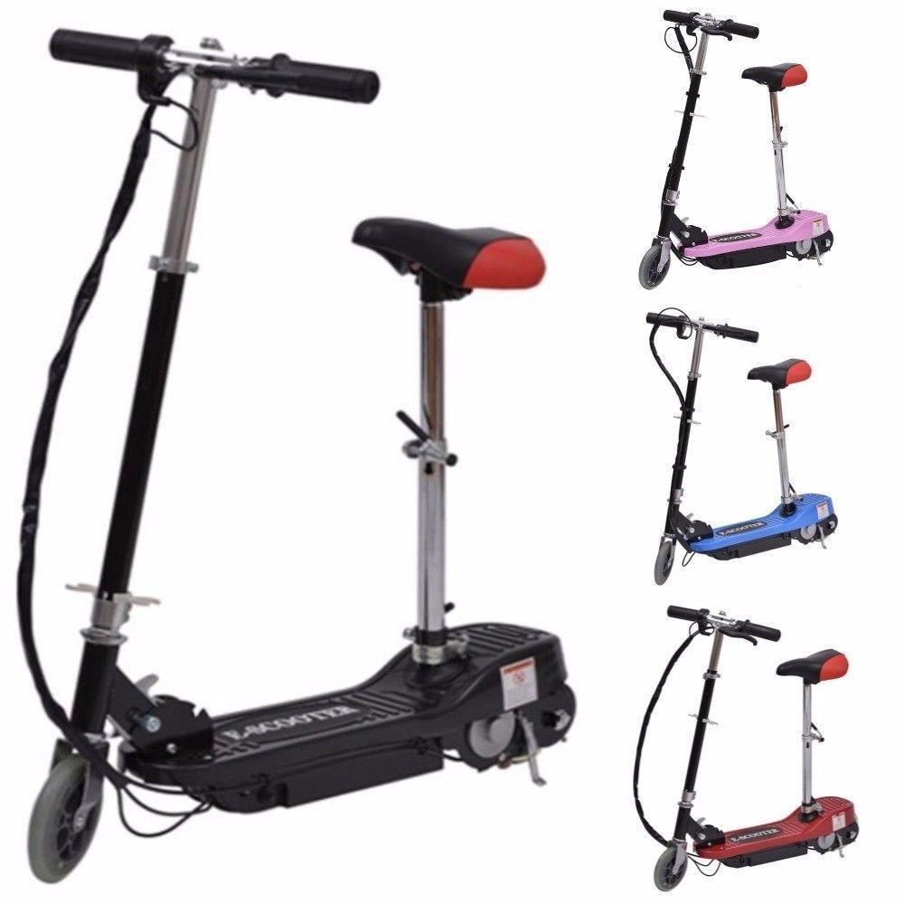 E scooter Monopattino elettrico con sellino 120W bicicletta elettrica full skate