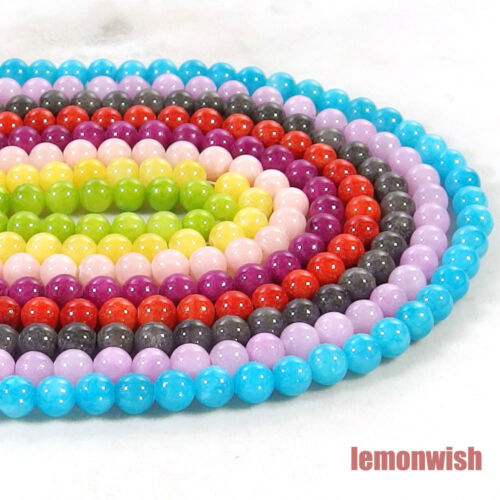 Multi Color Jade Gemstone Round Spacer Beads 15.5