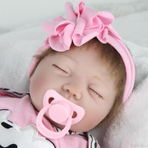 "22"" Handmade Reborn Baby Toy Newborn Lifelike Silicone Vinyl Sleeping Girl Dolls"