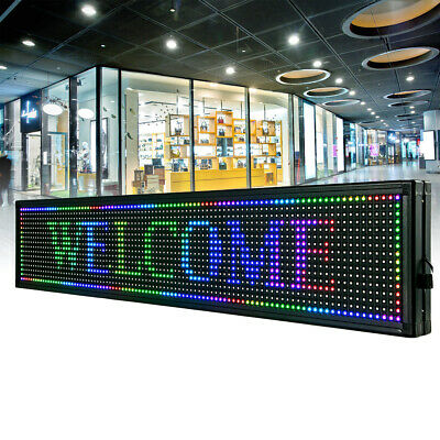 Bright 40x8 Rgb 7 Color Led Sign Programmable Scrolling Message Display Best