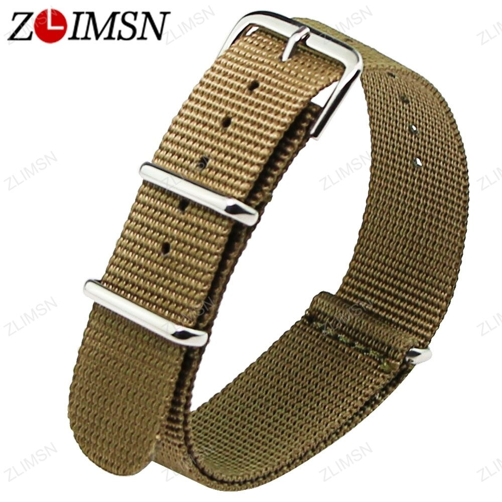 18mm 20mm 22mm Ballistic Durable Military Nylon Wrist Watch Band Strap 3 Rings