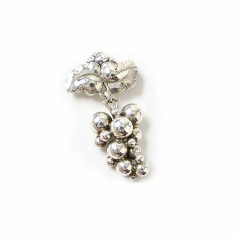 Georg Jensen Pin Brooch #217B Sterling Silver Denmark Jewelry #13676
