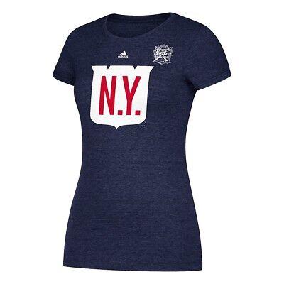 New York Rangers Adidas 2018 Winter Classic Jersey Crest Logo T-Shirt -