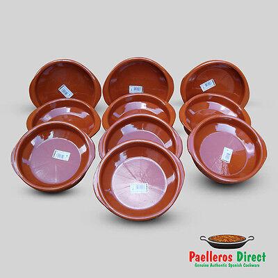 Set of 10 x 20cm Spanish Terracotta Tapas Dishes / Cazuelas