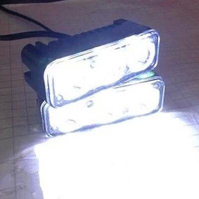 2* 3 LED 12V High Power White Car Daytime Running Light Fog Lamps DRL Waterproof