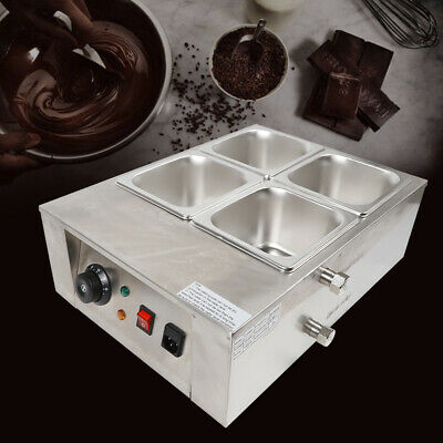 4 Ranuras Acero Inoxidable Fundidor eléctrico de Chocolate 220V 1000W