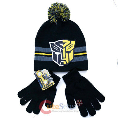 Bumble Bee Gloves (Transformer Bumble Bee Beanie Hat Gloves)