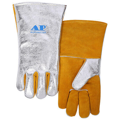 Ap-4501 High Heat Resistant 14 Shield Gloves Cowhide Leather Aluminized