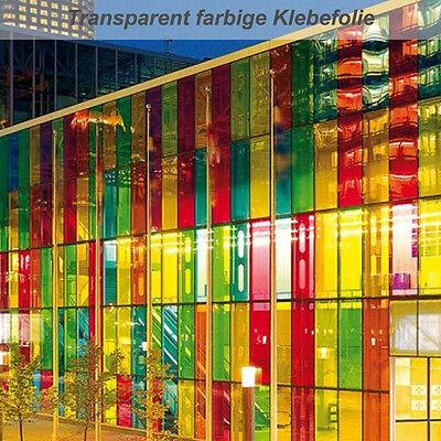 Transparente farbige Klebefolie für Glasdekoration Glasdesign