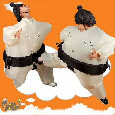 Aufblasbarer Sumo Wrestling Kostüm Erwachsene Kinder Ringer Anzug Kostüm E0J6