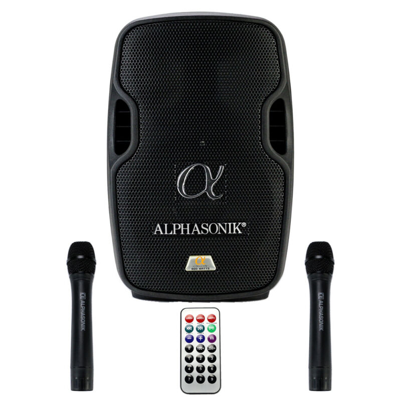 "Alphasonik AKDJ8BAT 8"" Portable Rechargeable Battery Powered DJ Speaker System"