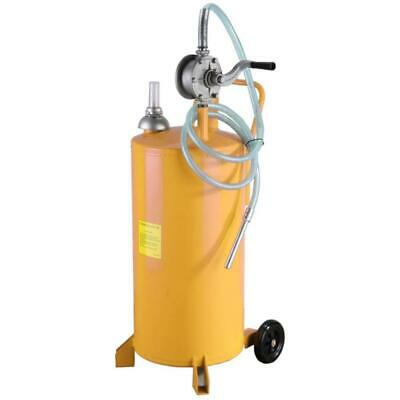20 Gallon Gas Fuel Diesel Caddy Transfer Tank W Rotary Pump Wheels Heavy-duty