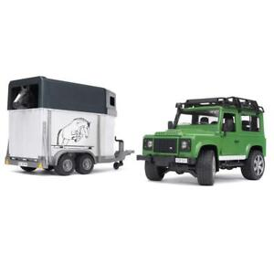 Bruder Land Rover Defender Station Wagon with Horse Trailer And 1 Horse Condition: New Other