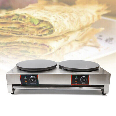 Commercial Electric Crepe Maker 16x 2 Double Griddle Pancake Nonstick Hot Plate