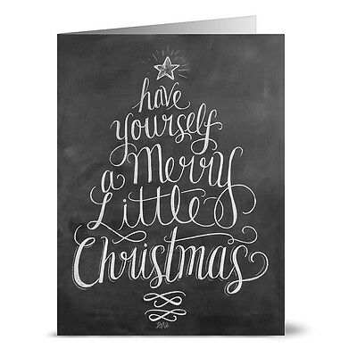24 Chalkboard Note Cards - Have Yourself a Merry Little Christmas - Kraft (Have Yourself A Merry Little Christmas Notes)
