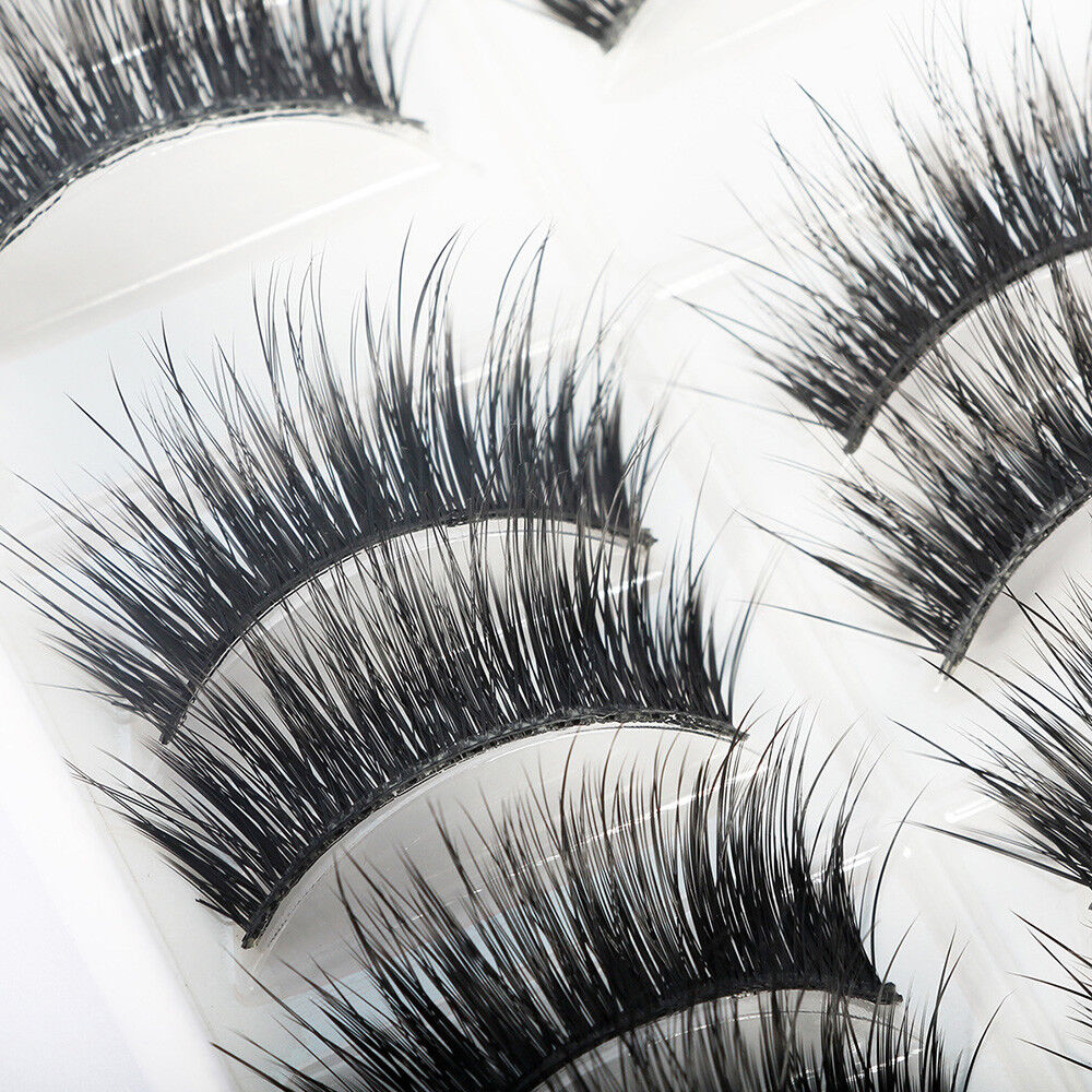10 Pairs 100% Real Mink 3D Volume Thick Daily False Fake Eyelashes Strip Lashes Eyes