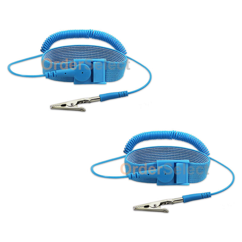 2X Anti-static Antistatic ESD Ground Strap Wrist Band Grounding Bracelet