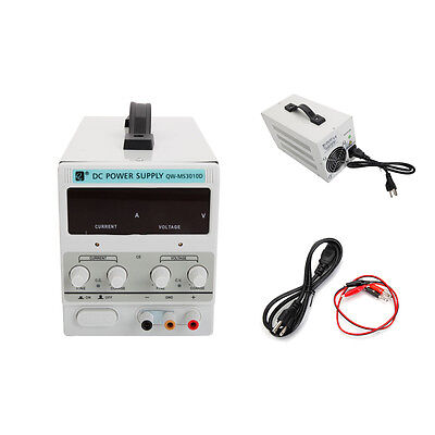 30v 10a Precision Variable Digital Dc Power Supply Adjustable Dual Clip Cable